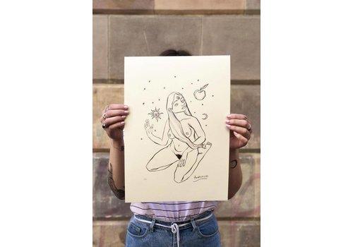 Hanako Mimiko Hanako Mimiko - Magnetismo - A3 Print