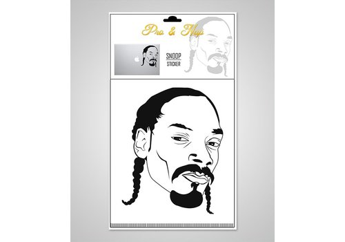 Pro & Hop Pro & Hop - Snoop Dogg - Clear Sticker