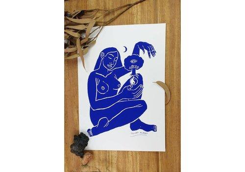 Hanako Mimiko Hanako Mimiko - Blue Lady - Screen Print