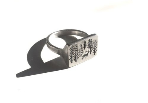 Michi Roman Michi Roman - Woodscape Ring - Silver