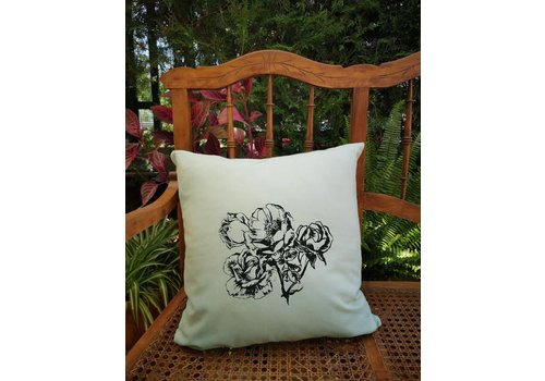 Nayade Nayade - Mint Cushion Cover - Flowers