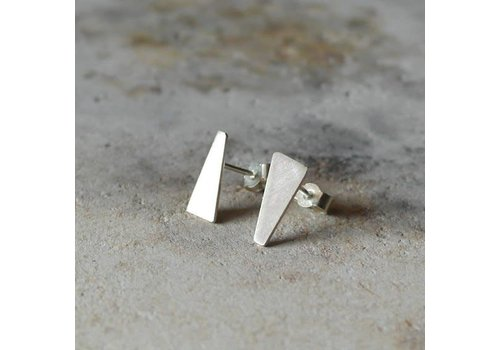 Âme Âme Jewels - 3/4 Geometric Earrings - Silver