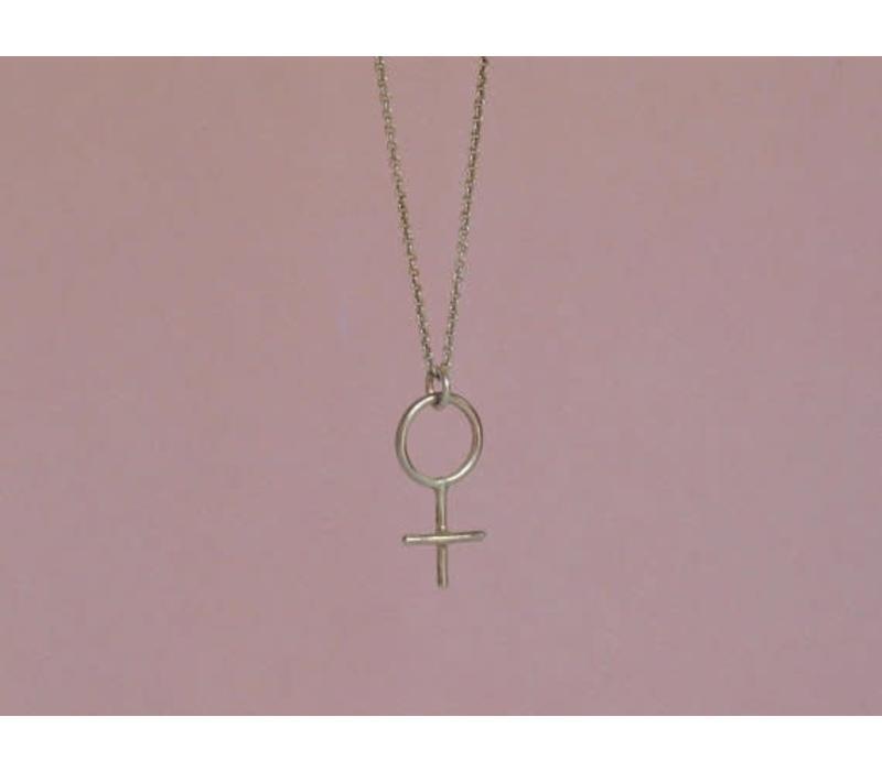 Âme Jewels - Venus Feminist Necklace - Silver