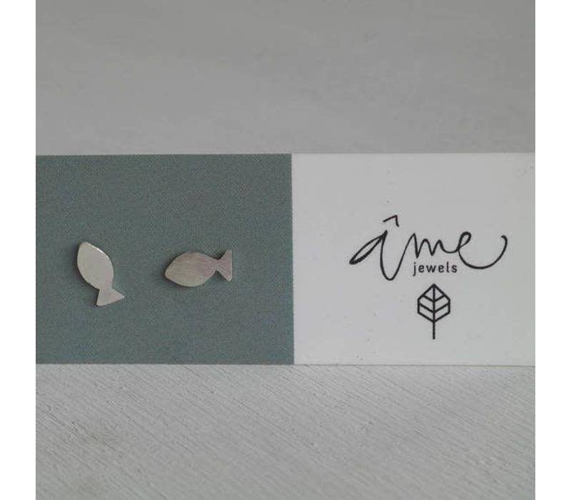 Âme Jewels - Fish Earrings - Silver