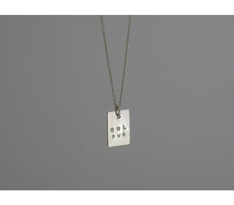 Âme Jewels - Girl Power Necklace - Silver