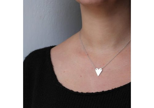Âme Âme Jewels - Heart Necklace - Silver