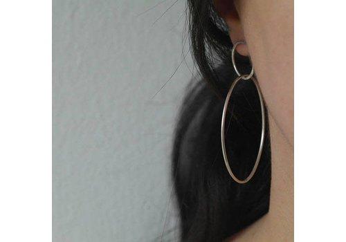 Âme Âme Jewels - Large Double Hoop Earrings - Silver
