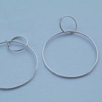 Âme Jewels - Large Double Hoop Earrings - Silver