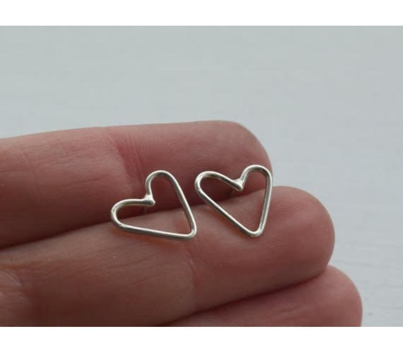 Âme Jewels - Little Heart Earrings - Silver