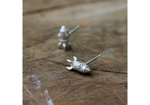 Âme Âme Jewels - Rocket Earrings - Silver