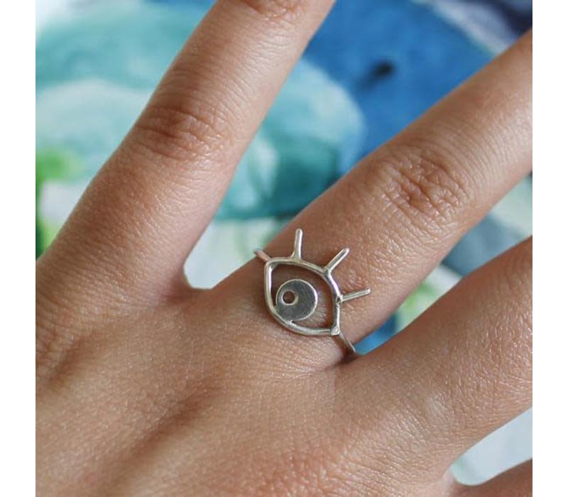 Âme Jewels - Eye Ring - Silver