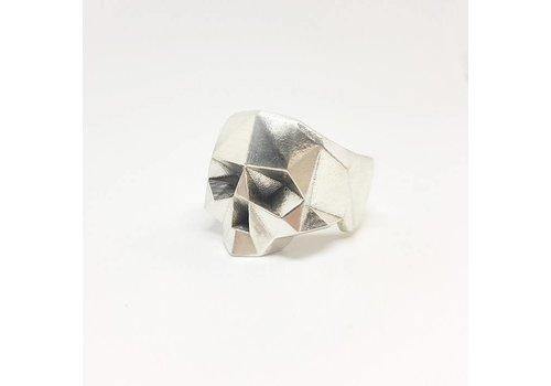 Xtellar Xtellar - Jawless Skull Silver Ring