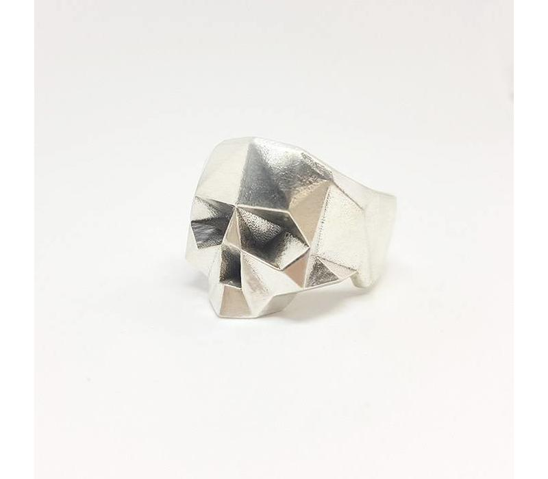 Xtellar - Jawless Skull Silver Ring