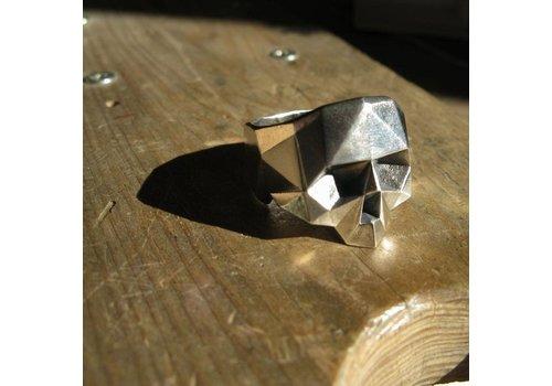 Xtellar Xtellar - Jawless Skull - Silver Ring