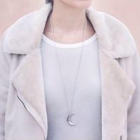 Xtellar - Moon - Silver Necklace