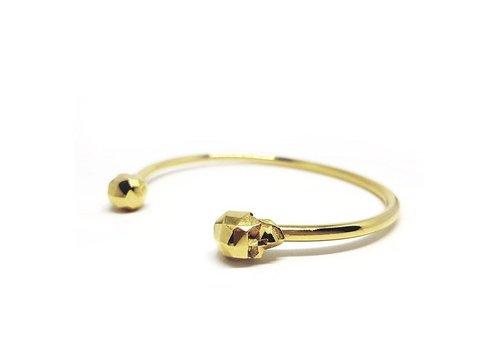 Xtellar Xtellar - Skull Bracelet - Gold Plated Brass