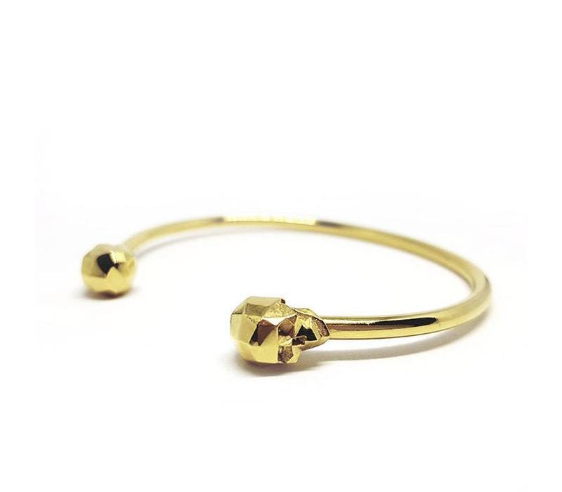 Xtellar Skull Bracelet Gold Plated Br