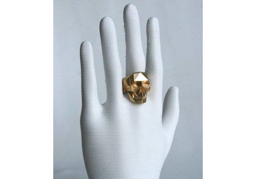 Xtellar Xtellar - Skull Ring - Gold Plated Brass