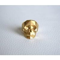 Xtellar - Skull Ring - Gold Plated Brass