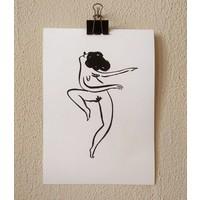 Flavita Banana - Mujer Feliz Bailando - A4 Print