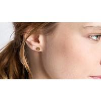 Botón de Nácar - Rotación Circle Earrings