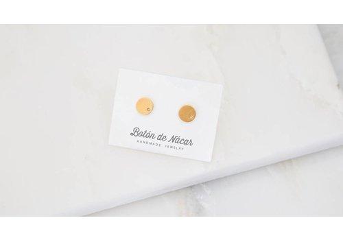 Boton de Nacar Botón de Nácar - Rotación Circle Earrings