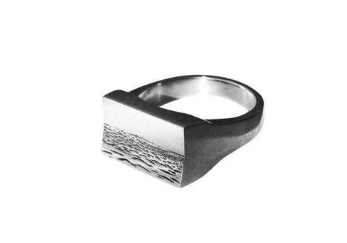 Michi Roman Michi Roman - Seascape Rectangle - Sterling Silver Ring