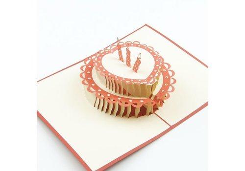 XiuXiu Xiuxiu - Pastís d'aniversari 3 espelmas - Greeting Card