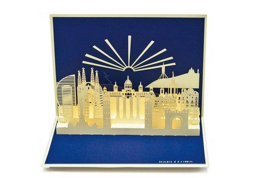 XiuXiu XiuXiu - Barcelona Skyline - Greeting Card