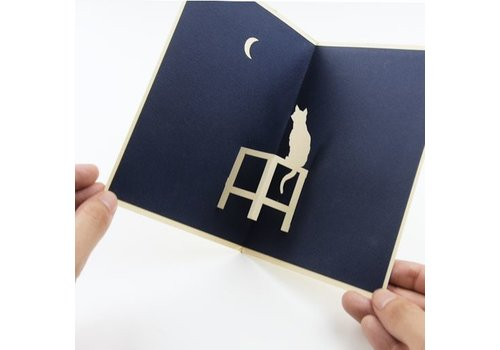 XiuXiu XiuXiu - The Cat and The Moon - Greeting Card