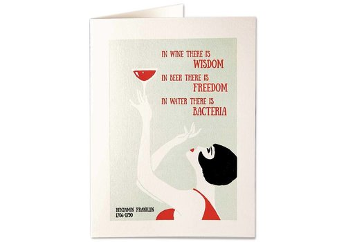 Archivist Gallery Archivist Gallery - Wine & Wisdom - Greeting Card