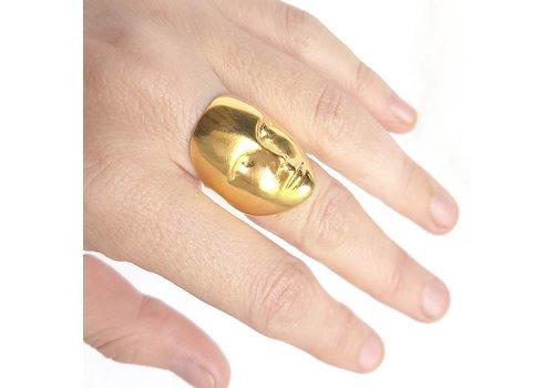 Xtellar Xtellar - Mask Ring - Gold plated silver