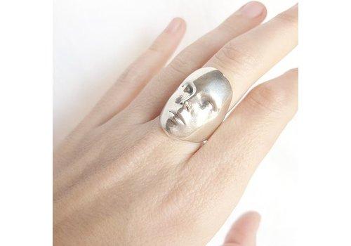 Xtellar Xtellar - Face Ring - Silver