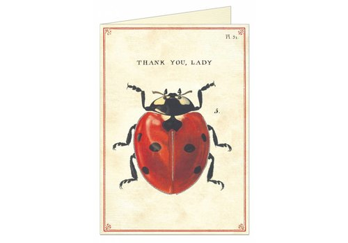 Cavallini Papers & Co Cavallini - Thank You Lady - Greeting Card