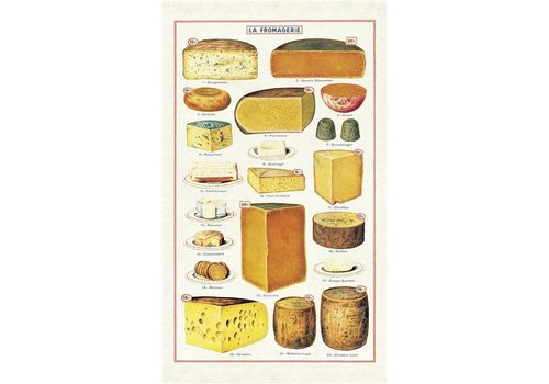 Cavallini Papers & Co Cavallini - Cheese - Tea Towel