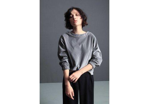 Misley Misley - Azalea Top - Grey Velvet
