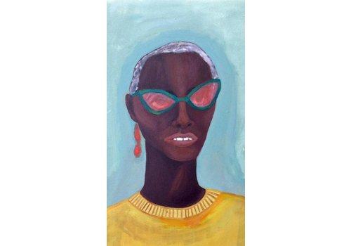 Alicia Borssen Alicia Borssen - Yellow Sweater Lady - A3 Print
