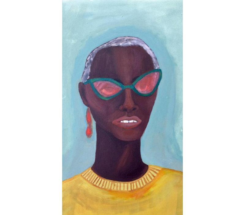Alicia Borssen - Yellow Sweater Lady - A3 Print