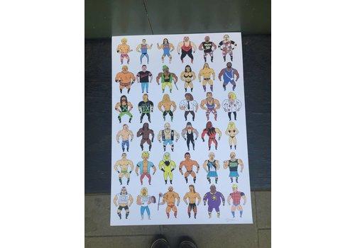Russell Tysom Russell Taysom - Wrestling Attitude - Print