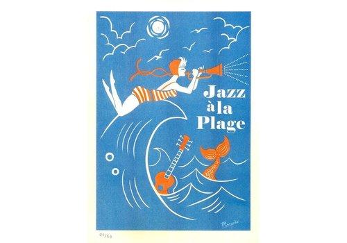 El Marquès El Marquès - Jazz a La Plage - A3 Risograph