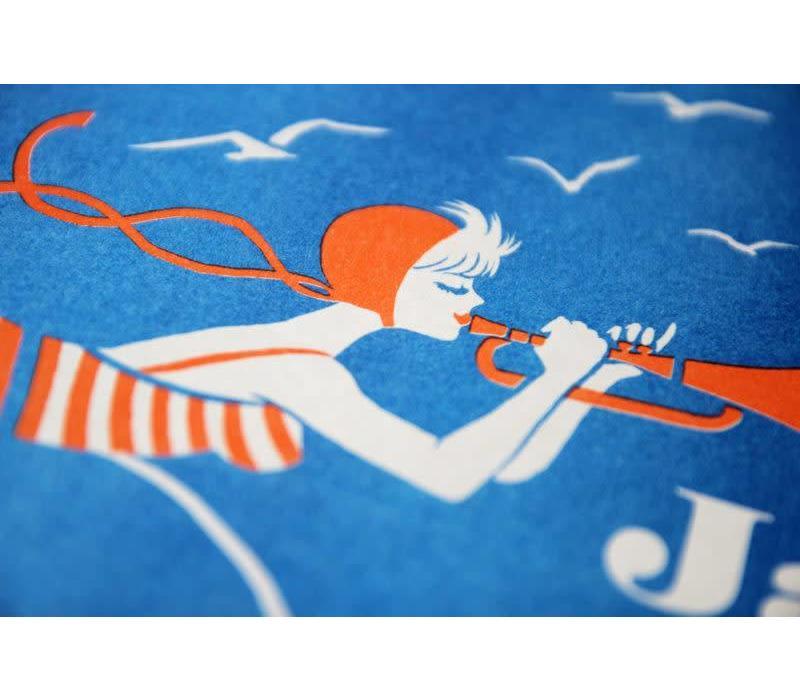 El Marquès - Jazz a La Plage - A3 Risograph