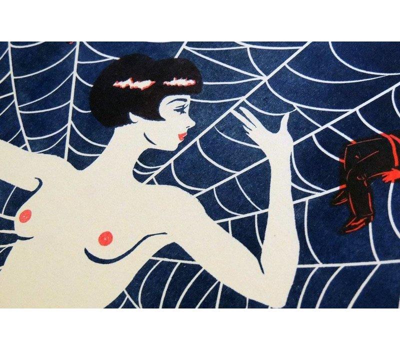 El Marquès - Black Widow - A3 Risograph