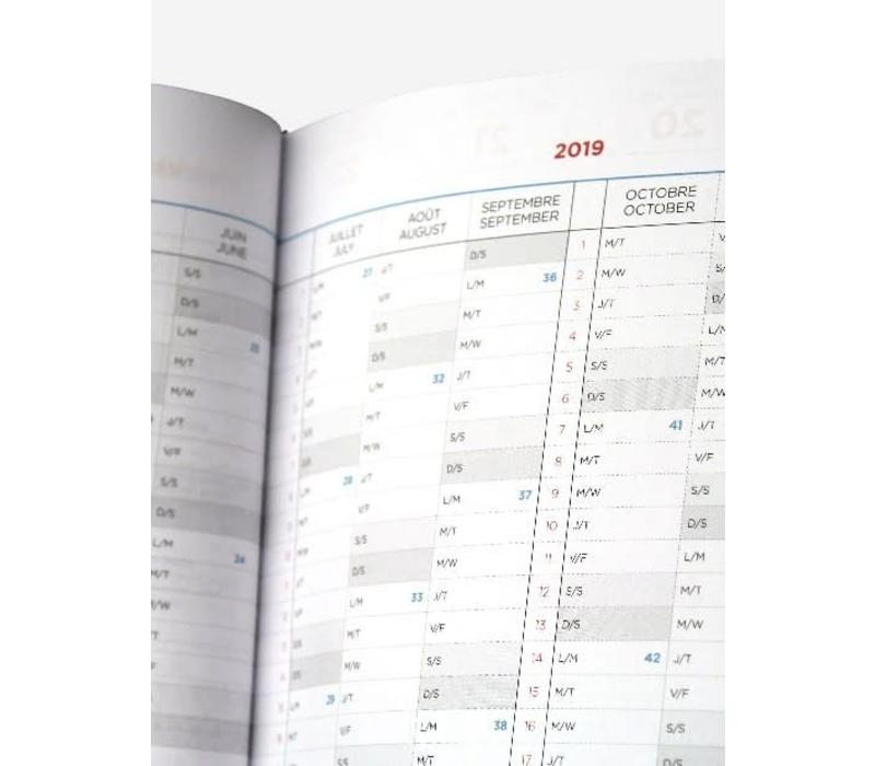 Papier Tigre - Agenda RDV 2019 - Medium Leaves