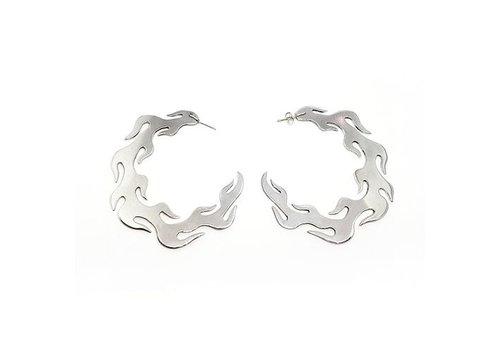 Xtellar Xtellar - Flame Earrings - Silver Aluminium