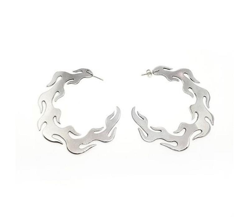 Xtellar - Round Flames - Earrings