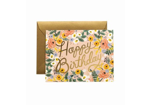 Rifle Paper Rifle Paper Co. - Rosé Happy Birthday - Greeting Card