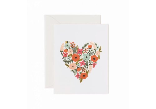 Rifle Paper Rifle Paper Co. - Floral Heart - Greeting Card