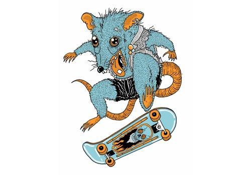 Rapha Hu Rapha Hu - Gnarley Rat - A5 Print