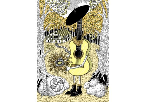Rapha Hu Rapha Hu - The Humble Guitar - A5 Print