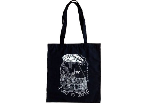 La Barbuda La Barbuda - I Want to Believe - Black Totebag